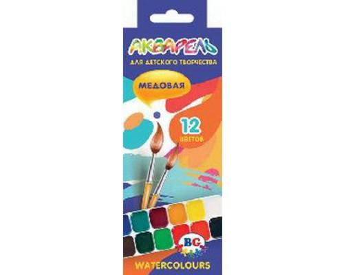 Краски акварельные 12 цветов BG Палитра