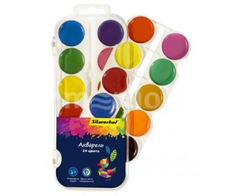 Краски акварельные 24 цвета Silwerhof Цветландия (без кисти)